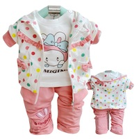 Spring outerwear set baby clothes 0-1 year old children's clothing long-sleeve top t-shirt trousers piece set