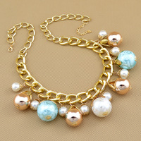 Floating Charms Fashion Design Shourouk Style Imitation Pearl Necklace,Necklaces & Pendants Free shipping
