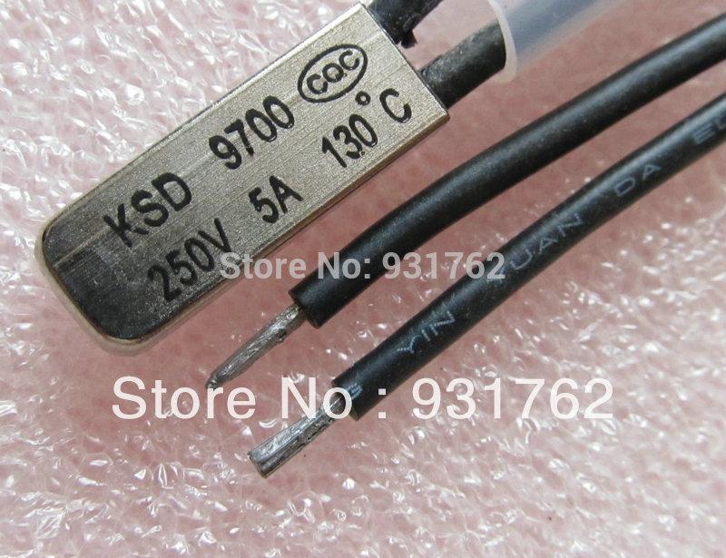 10 pcs KSD9700 130 Celsius 250V 5A Thermostat BiMetal Switch Temperature NC Normally Close 130 Degree(China (Mainland))