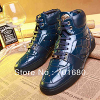 2014 Top quality Men's high top sneakers,Brand high top sports shoes.spring/autumn sneakers with box,dusty bag.2colors.39-43
