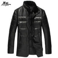 2013 genuine leather down clothing male mink hair sheepskin outerwear