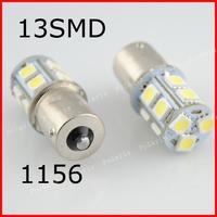 10PCS/lot 1156 BA15S P21W LED 13 SMD 5050 Brake Tail Turn Signal Light Bulb Lamp 12V white blue yellow red BAY15D BA15D