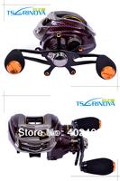 Free shipping Bait baitcasting fishing reel Trulinoya Left  Hand  TS1200  209g  Red 13 ball bearings ONE-WAY