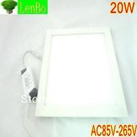 2pcs/Lot 20W Led Panel Light AC85-265V Square Led ceiling Light 1800lumens, Free Shipping LP2