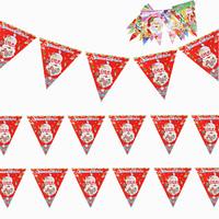 Free Shipping Christmas decoration flag triangle flag christmas triangle flags flag