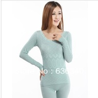 Ms. 2013 new thin section Qiuyi Underwear Lace low collar sweater suit pants line