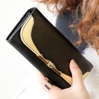 Love gold 2014 fashion long design women's flip wallet Women wallet