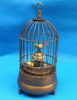 Wholesale cheap Rare brass bird cage Mechanical Table Clock Alarm Clock / Free Shipping