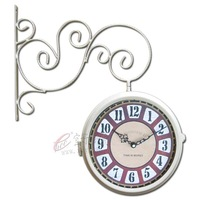 factory house wholesale Fashion double faced clock fashion Large clock modern rustic mute clock and watch gift