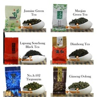 Promotion! 6 kinds of Different Variety Tea Jasmine Green +Maojian+Lapsang Souchong Black +Dianhong+Ginseng Oolong Free Shipping