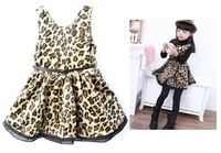 NWT Holiday Gorgeous Cheetah Leopard Baby Dress Toddler Girl  Spring/Autumn Princess Dresses  Size 2A-8A