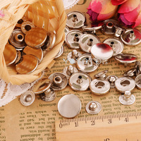 15mm metal snap buttons sliver  40pcs