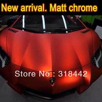 free shippping by fedex chrome matt vinyl film 1.52x20m for car body decoration