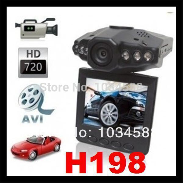 10PCS/LOT HOT HD H198 Car DVR with 2.5 '' TFT LCD+Night Vision 6 IR LED+120 Degree View Angle(China (Mainland))