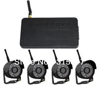 Digital Wireless DVR Kit with Weatherproof Night Vision Camera 4CH QUAD View Support 32G SD card Motion Detection Recording