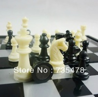 Good quality Travel kit folding portable plastic magnetic chess mini set