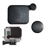 free post 2pcs/lot Dustproof Anti-Fog Protection Plastic Len Caps+ Housing Lens Cover For Gopro HD Hero3