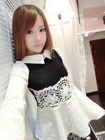 Free shipping Autumn puff sleeve t-shirt female long-sleeve skirt basic shirt lace top y9102