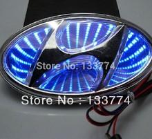 3D Laser LED light HYUNDAI ELANTRA SONATA Solaris Velocter emblem car logo light(China (Mainland))