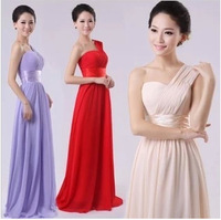 2014 new cheap long  champagne chiffon bridesmaid dresses under $50 (yellow turquoise lavender )