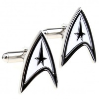 Promotion: Star Trek Cufflink 2pairs Wholesale Free Shipping