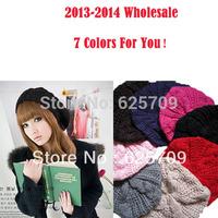 5 pc/lot Wholesale Hot Sale! Fashion Handmade Women Lady's Warm Winter Beret Braided Baggy Beanies Crochet Hat 7 Colors