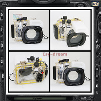 With 67mm filter thread 40m 130ft Waterproof Diving Underwater Housing Case Bag For Canon G16 Camera PP153