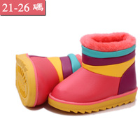Hot sale winter snow boots waterproof PU leather children boots kids shoes for boys and girls shoes 1 to 6 years