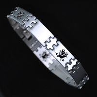 silver scorpion  unisex men women spark stainless steel bracelet fashion brief bracelets & bangles watch style wholesale