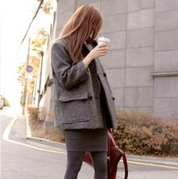 Woolen outerwear 2013 autumn and winter medium-long plus size clothing thick woolen overcoat woolen outerwear female