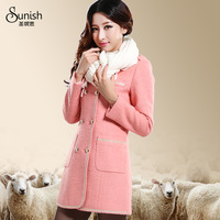 2013 winter women's outerwear slim woolen overcoat autumn and winter elegant woolen outerwear