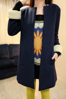 2013 women's medium-long woolen outerwear suit woolen overcoat slim