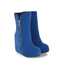 Increased in-tube women's boots sexy female fashion PU women's boots snow boots in the new 2013