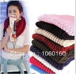 New winter hot wool scarf collar men and women set of qiu dong female head warm wool knitting lap scarf(China (Mainland