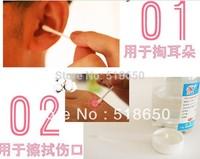 2015 New Arrival Liquid Cooling Liquid Cotton Sticks Special Double Health Cosmetics Peach Heart Box Cotton Swabs, 100