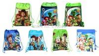 Free shipping 18pcs/LOT toy story Cartoon Drawstring Backpack Bag ,Children Kids Bag 34X27CM,schoobag,party gift
