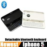 Bluetooth 3.0 Slide Rotatable Stand Backlight Keyboard Case for iPhone5