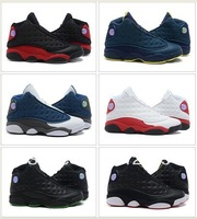 Free Shipping Wholesale 10Color Famous Jumpman XIII 13 Retro BRED Squadron Blue Men's Sports Basketball Shoes  High Quality !