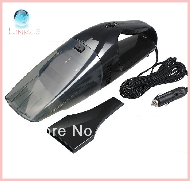 Brand New 90W Super Suction Mini 12V High-Power Wet and Dry Portable Handheld Car Vacuum Cleaner Black Color Free Shipping(China (Mainland))