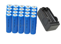 New 15pcs 18650 3.7v 5000Mah Rechargeable Flashlight Battery and 2pcs charger Free Shipping