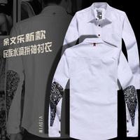 2013 ministering visvim drop fight sleeve male shirt