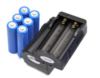 New 6 x Rechargeable li-ion 5000Mah Flashlight 18650 Battery 3.7v and 2 Charger Free Shipping