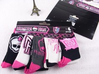 Wholesale New 2014 Autumn Winter Kids Socks Fashion Monster High Brand Cute Candy Color Children Warm Socks Girls Socks