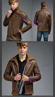 free ship Men thick winter Air Force pilot leather villus uniform jacket man retro coat U.S. leather villus uniform jacket coat