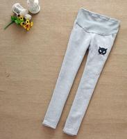 Maternity clothing sports pants fashion kitten legging plus velvet thickening autumn and winter maternity pants