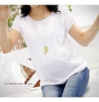 2013 maternity clothing summer fashion maternity top basic shirt loose t-shirt white short-sleeve