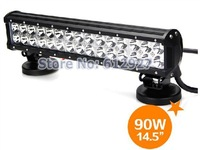 "14.5"" CREE LED Light Bar 90W LED Headlight For Truck SUV Offroad 4WD Boat ATE 4X4 Jeep LED Spot Beam Flood Beam LED Work Light"