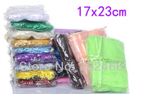 Wholesale Free Shipping Organza Bags 17x23cm,Drawable Wedding Gift Bags & Pouches,200pcs/lot