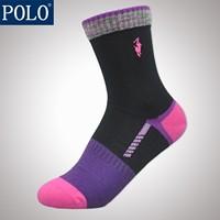 free shipping Polo women's socks autumn and winter casual socks 100% cotton socks knee-high multicolour socks 1129