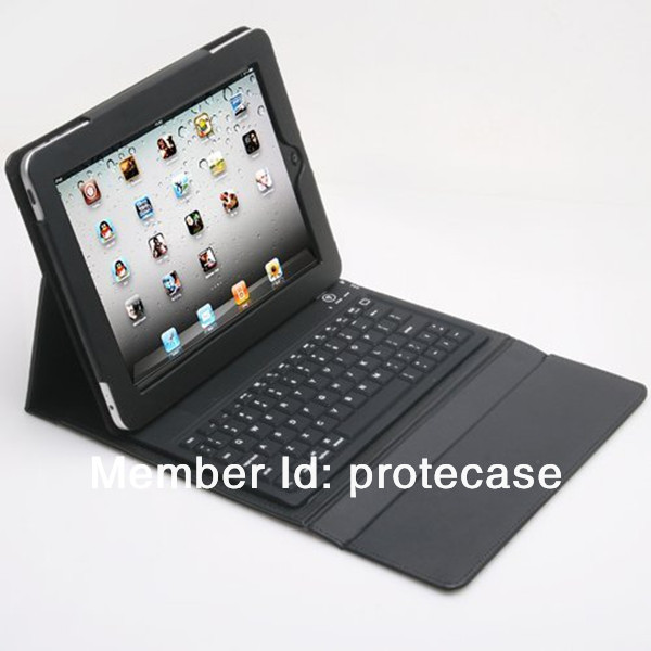 Leather Case + wireless Bluetooth Keyboard for iPad 2 3 4 for iPad3 2nd stand bag - Multi color(China (Mainland))